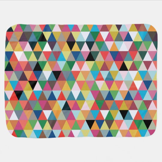 Colourful Kaleidoscope Patterned Baby Blanket