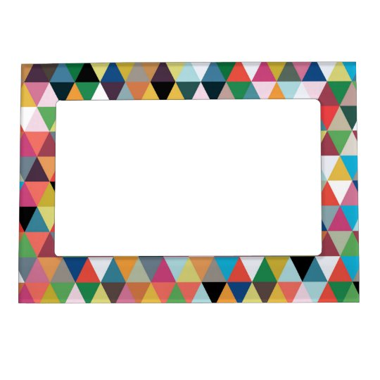 Colourful Kaleidoscope Patterned Magnetic Frame
