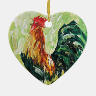 Colourful Keith the RoosterRooster Christmas Ornament
