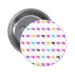 Colourful kekekeke 6 cm round badge