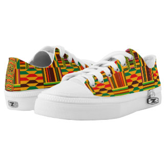 Colourful Kente Low Tops