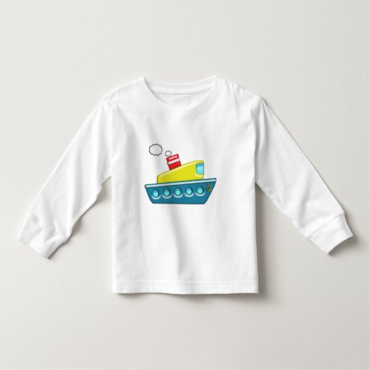 Colourful Kid's Boat Toddler T-Shirt