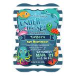 Colourful Kid's Sea Life Birthday Party Invitation