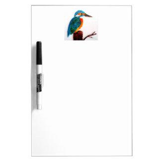 Colourful Kingfisher Art Dry Erase Board