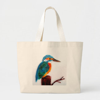Colourful Kingfisher Art Large Tote Bag