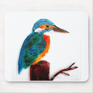 Colourful Kingfisher Art Mouse Pad