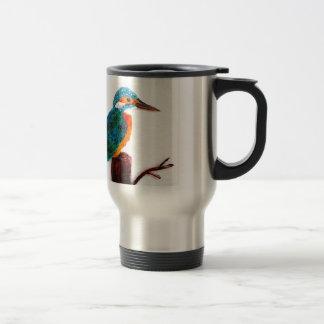 Colourful Kingfisher Artwork Travel Mug