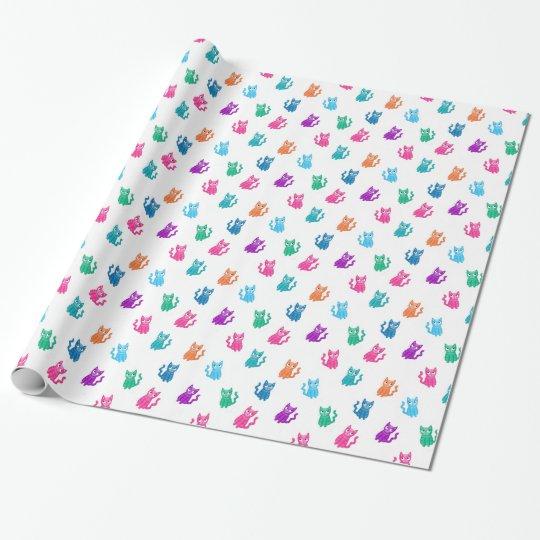Colourful kitten paper