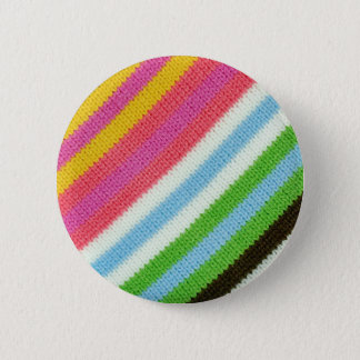 Colourful knitted background 6 cm round badge