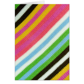 Colourful knitted background card