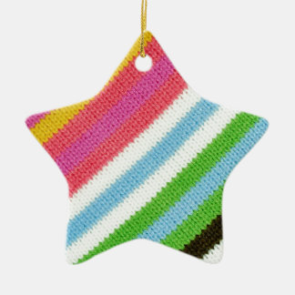 Colourful knitted background christmas ornament