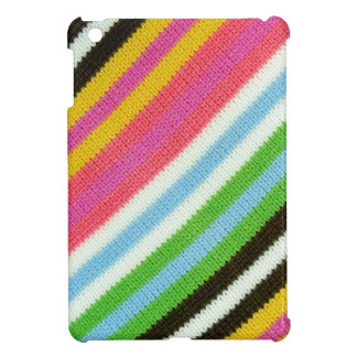 Colourful knitted background iPad mini cover