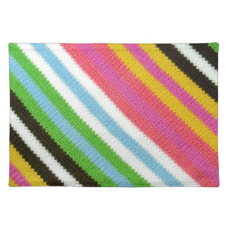 Colourful knitted background placemat