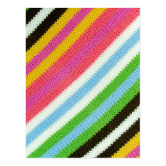 Colourful knitted background postcard