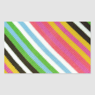 Colourful knitted background rectangular sticker