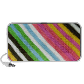 Colourful knitted background mp3 speakers