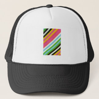 Colourful knitted background trucker hat