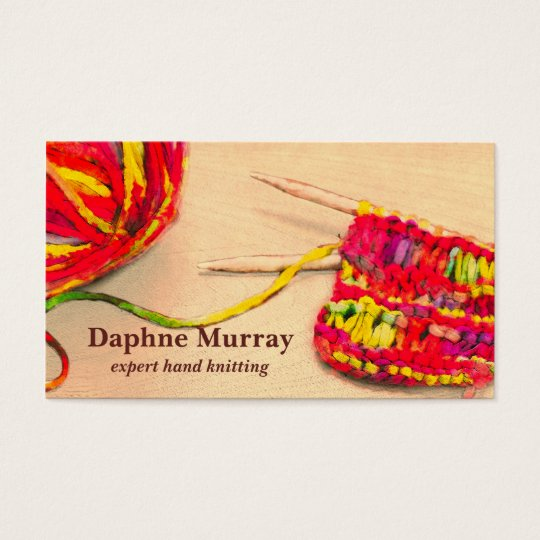 Colourful Knitting Business Card