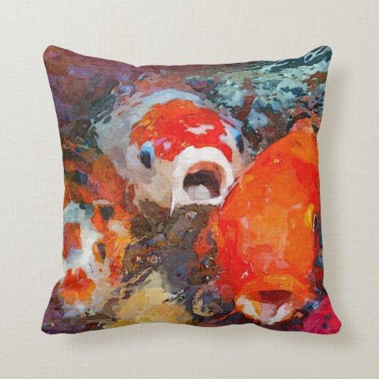 Colourful Koi Fish Cushion