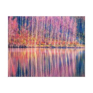 colourful lake canvas print