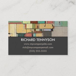 Fine artsy business cards zazzle uk colourful lattice abstract custom business cards colourmoves
