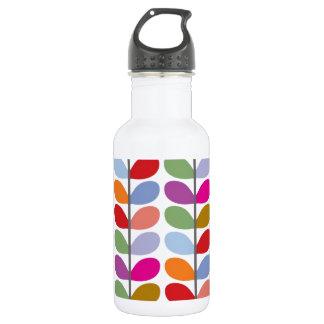 Colourful Leaf Pattern 532 Ml Water Bottle