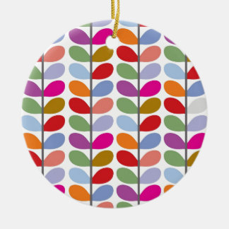 Colourful Leaf Pattern Christmas Ornament
