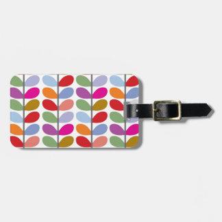 Colourful Leaf Pattern Luggage Tag