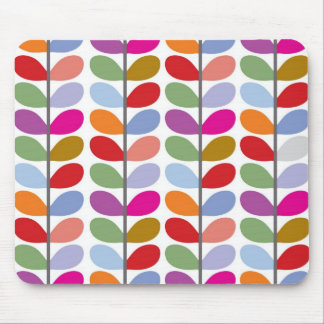 Colourful Leaf Pattern Mouse Mat