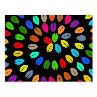 Colourful Leaf Postcard
