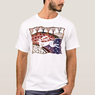 Colourful Leaping Hare T-Shirt