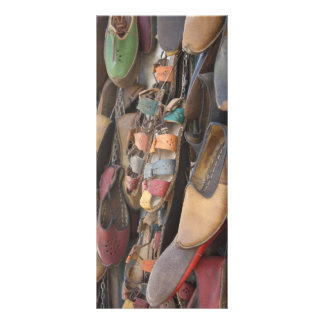 Colourful Leather Hand Crafted Sandals Custom Rack Card