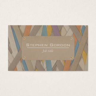 Colourful leather strapped business card