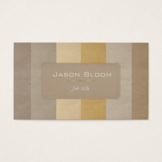 Colourful leather stripes II Business Card