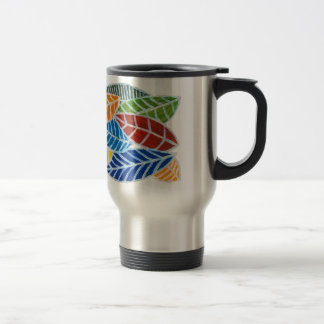 Colourful leaves travel mug