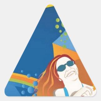 Colourful leisure design triangle stickers