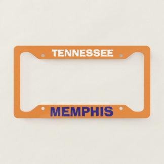 Colourful License Plate Frame Memphis Tennessee