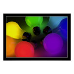 Colourful light bulbs - Poster