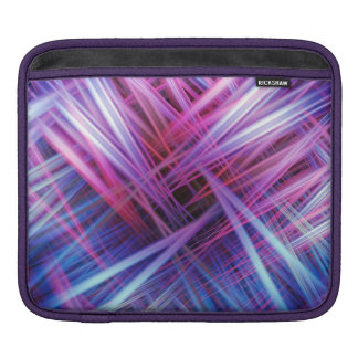 Colourful light trails pattern ipad sleeve