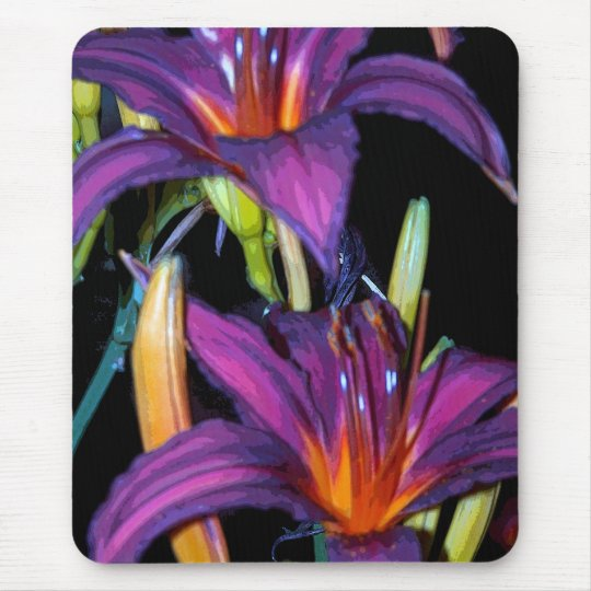 Colourful Lillies Mouse Pad