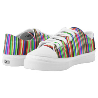 colourful line pattern low tops