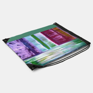 Colourful Lines Drawstring Bag