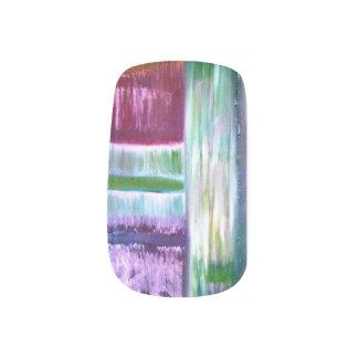 colourful lines minx nail art