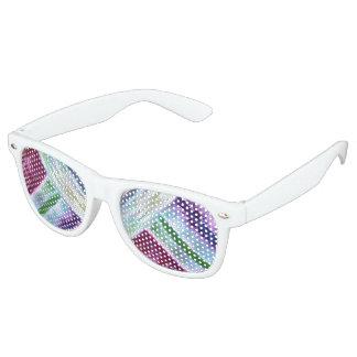 Colourful Lines Retro Sunglasses
