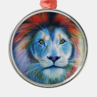 Colourful Lions Christmas Ornament