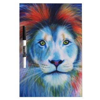 Colourful Lions Dry Erase Board