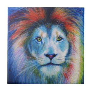 Colourful Lions Tile