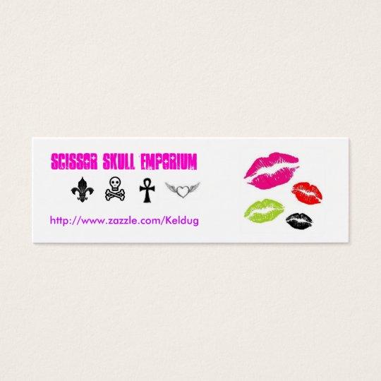 Colourful Lips & Symbols Card