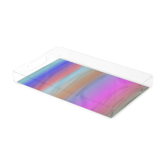 Colourful liquid acrylic tray