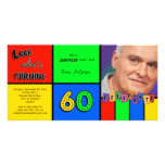 Colourful Look Whos Turning 60 Birthday Invite